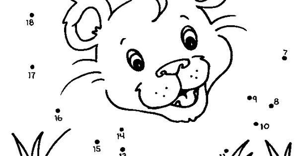 Connect the dots A lion cub