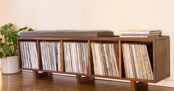 PETER DEEBLE   VINYL LP STORAGE BENCH   Shelving & Storage ...