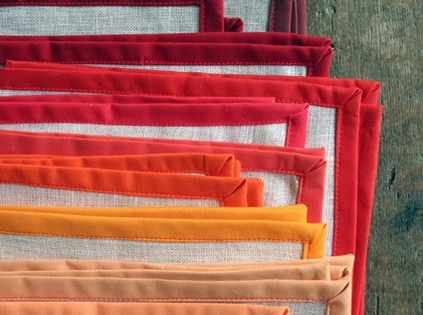Check out these colorful linen Thanksgiving napkins — and nine other home