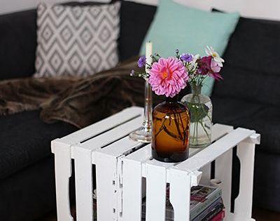 diy tischchen aus obstkisten a cake a day weinkisten neue ideen und obst. Black Bedroom Furniture Sets. Home Design Ideas