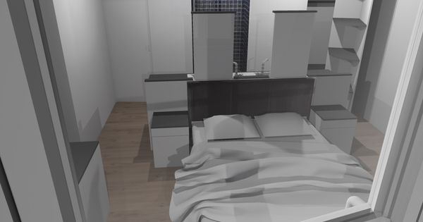 faire d'une chambre de taille moyenne, une suite avec wc, salle de