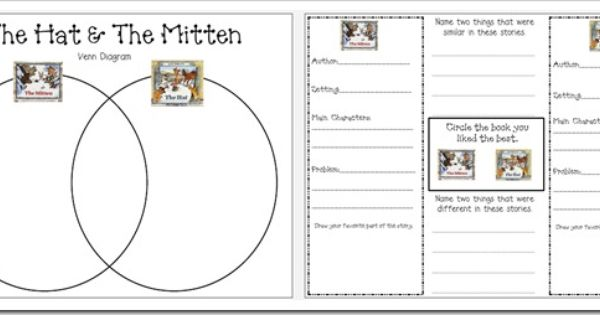 """Free compare/contrast sheets for Jan Brett's """"The Mitten"""" and """"The Hat ..."""