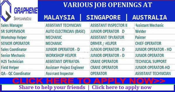 Job Vacancies In Malaysia Singapore Australia Etc Job Opening