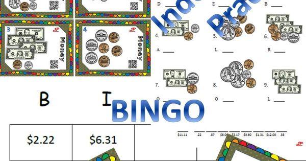 money bundle bingo task cards worksheets w riddles counting money students and math. Black Bedroom Furniture Sets. Home Design Ideas