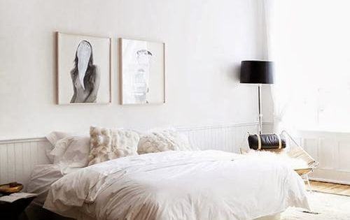Neutral Bedroom. Less is more.