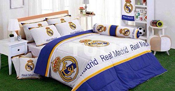 REAL MADRID Bedding Twin Full Queen Comforter Blanket Spain Soccer SHERPA FLEECE