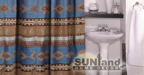 Southwestern shower curtains, Luxury and Showers on Pinterest