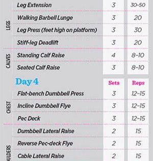 12 Weeks To A Competition Body Training Plan Weight Training