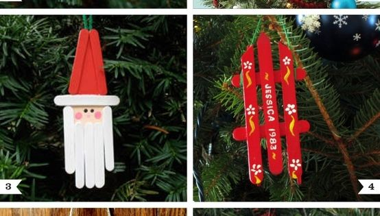 Popsicle Stick Ornaments - 10 Easy Kids Christmas Crafts! DIY---Can you tell I have some craft sticks?
