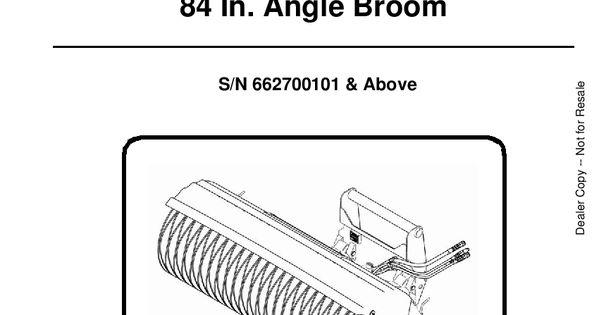 Bobcat Angle Broom 6901385 Om 1 08 Operation And Maintenance Manual Pdf Download Operation And Maintenance Repair Manuals Manual