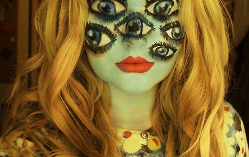 #halloween costume eyes face paint make up makeup