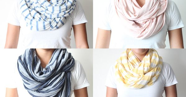 DIY infinity scarves --hitting the fabric store tomorrow!!!!