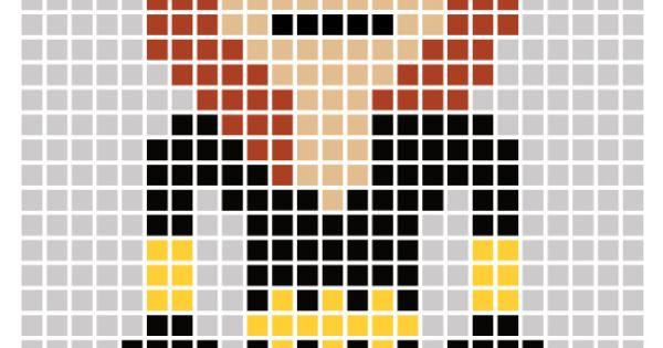 avengers pixel art template black widow