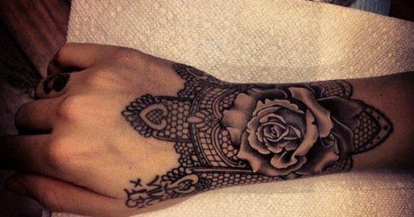 Rose Wrist Tattoo RoseTattoos WristTattoos gothicTattoos roses flowers wrists tattoos tattooed tats