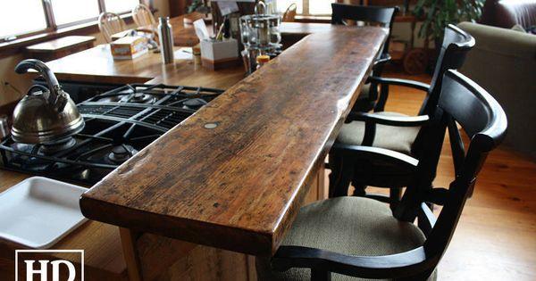 Kijiji: Custom Reclaimed Wood Bar / Island Tops | For the Home | Pinterest  | Stove, Reclaimed wood bars and Cabinets - Kijiji: Custom Reclaimed Wood Bar / Island Tops For The Home
