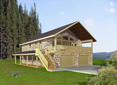 Plan 35396gh Compact Design With Spacious Deck In 2021 Carriage House Plans Garage Apartment Plan House Plans