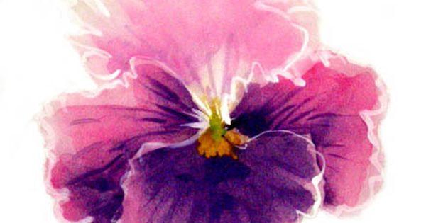 Watercolor pansy tattoo google search great sayings - Tatouage pensee fleur ...