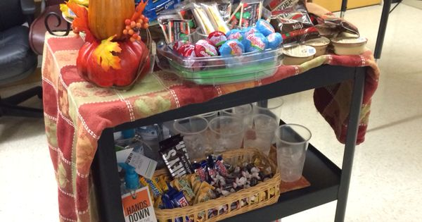 Teachers loved our snack cart for PTSA Appreciation ...