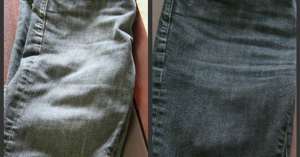 I've done this to my favorite pair of black jeans every year