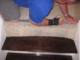 Transition Carpet To Wood Stairs Diy Stairs Diy Wood Floors Wood Stairs