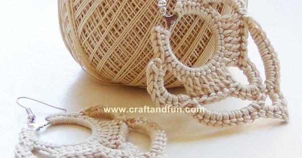 DIY earrings crochet - a photo tutorial explains step by step how