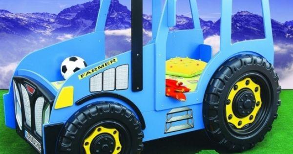 blauer traktor als kinderbett besondere kinderbetten. Black Bedroom Furniture Sets. Home Design Ideas
