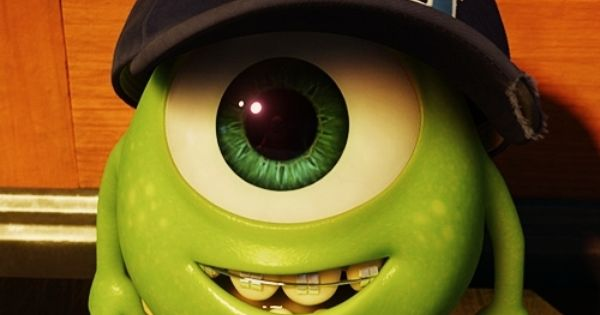 Young Mike Wazowski Look At His Little Braces!!! ADORABLE