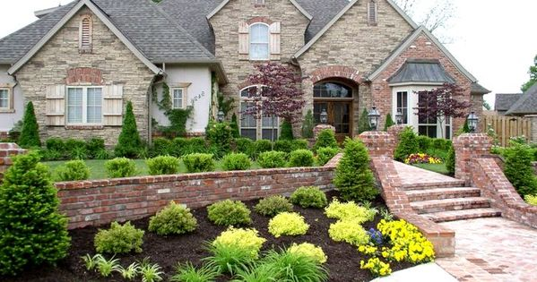 Most Beautiful Front Porch Yard Garden Landscaping Ideas