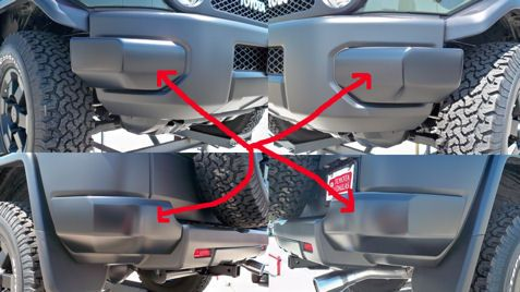 Toyota FJ Cruiser Left Rear Bumper End Cap NEW Genuine OEM Parts