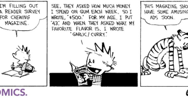 Cartoons Calvin Hobbes Calvin Hobbes Comics Science Jokes