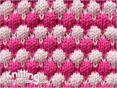 Knitting Stitches Bubble : 2 color Bubble Knitting Knitting Stitch Patterns Pinterest Beautiful, P...