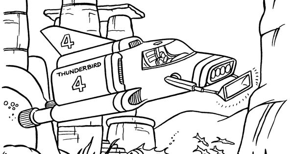 Colouring pages on pinterest for Thunderbirds coloring pages