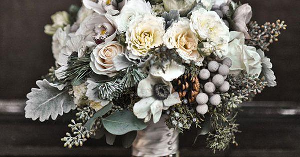 Winter bouquet - Stunning silver- perfect winter wedding bouquet.