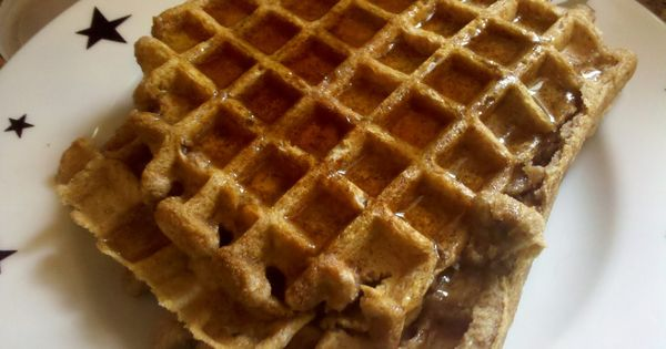 Quinoa Goat Milk Belgian Waffle With Double Cherry Maple Syrup Recipe ...