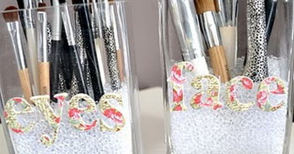 DIY Makeup Storage Ideas Replace beads with stones or marbles?