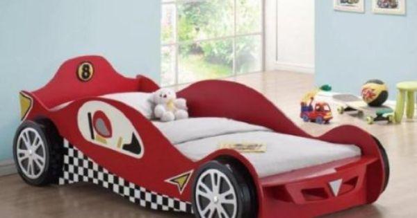 Cama con forma de carro camas para ninos con colchon bsf - Cama coche nino ...