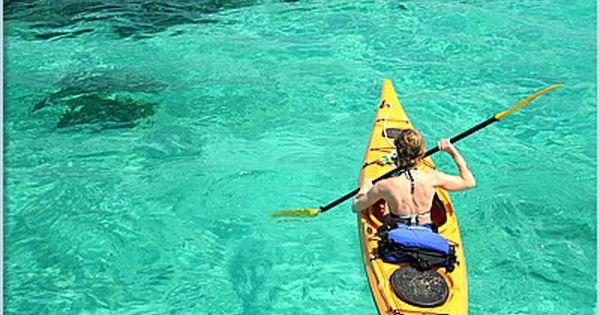 Kayaking in the Glovers Reef Atoll, Belize kayak