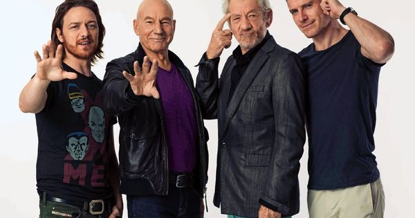 James McAvoy, Patrick Stewart, Ian McKellen & Michael Fassbender I can't even
