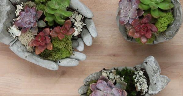 concrete garden hands nifty creative home pinterest. Black Bedroom Furniture Sets. Home Design Ideas