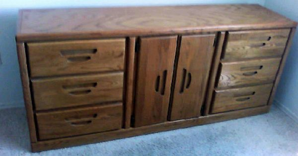 Oak Wood Dresser Credenza In Spacetwelve S Garage Sale Gold