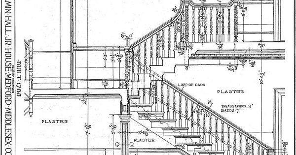 typical residential stair plan drawing