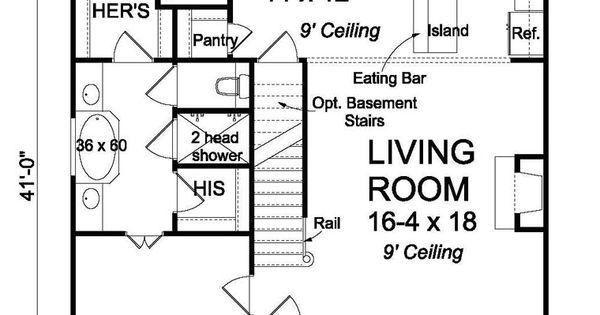 1597 sqft 3bd 25 bath double head shower Dream House Plans Pinterest Traditional house - Dream House Plan