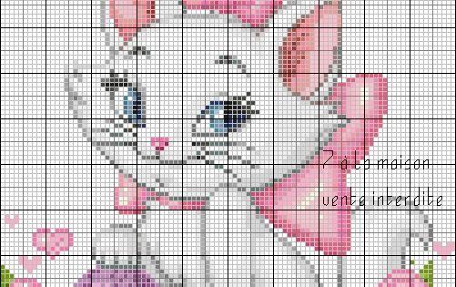 Grille gratuite le blog de 7 la maison point de croix tricot grilles gratuites point - Point de croix grilles gratuites ...