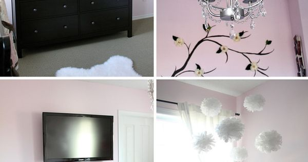 Pink, Black and Gray Nursery