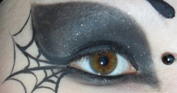 spider web makeup ... Nice with the right Halloween costume!