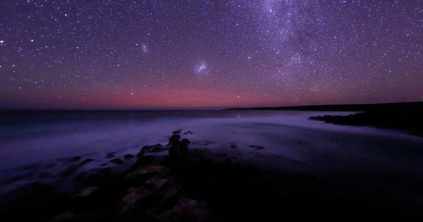 Glow of Aurora Australis, looking due south from Eyre Peninsula, SA letsgetlost