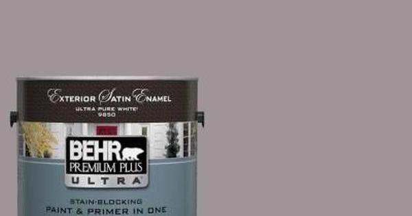 Behr Premium Plus Ultra 1 Gal Ul250 7 Heather Plume Satin Enamel Exterior Paint Wall Paint