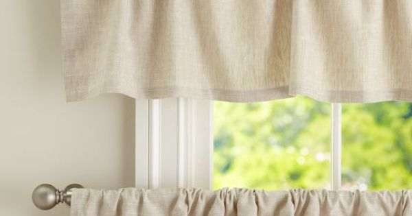 Emery Linen Cafe Curtain Pottery Barn For The Kitchen For The Home Pinterest The O 39 Jays