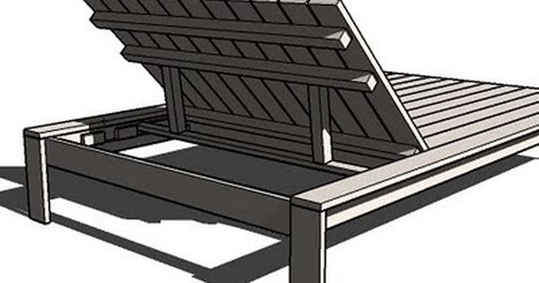 Ana white build a simple modern outdoor double lounger for Ana white chaise lounge