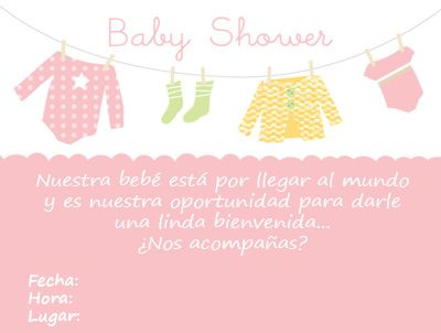 Tarjetas Para Personalizar De Baby Shower Imagui